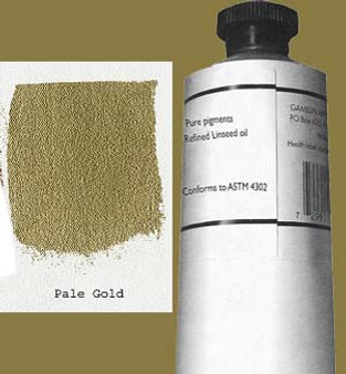Gamblin Artists Oil Color 150ml Series 4: Pale Gold