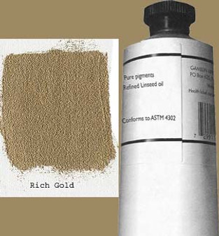 Gamblin Artists Oil Color 150ml Series 4: Rich Gold