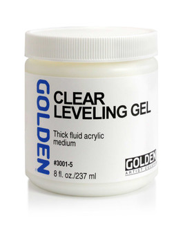 Golden Artist Colors Acrylic Gel: 8oz Self Leveling Clear Gel