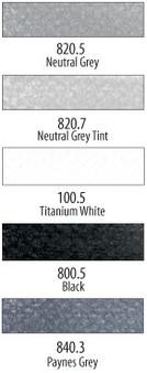 Panpastel 5 Color Set Greys