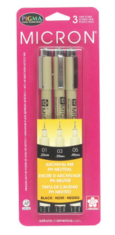Sakura Pigma Micron 3-Pc Black Set