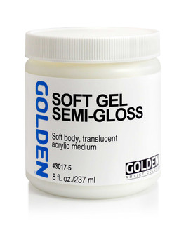 Golden Artist Colors Acrylic Gel: 8oz Soft Gel Semi-Gloss
