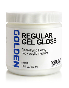 Golden Artist Colors Acrylic Gel: 16oz Regular Gel Gloss