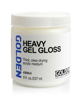 Golden Artist Colors Acrylic Gel: 8oz Heavy Gel Gloss