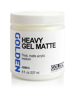 Golden Artist Colors Acrylic Gel: 8oz Heavy Gel Matte