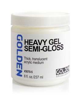 Golden Artist Colors Acrylic Gel: 8oz Heavy Gel Semi-Gloss