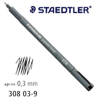 Staedtler Pigment Liner 0.3 Black