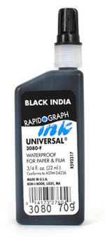 Koh-I-Noor Universal Drawing Ink .75oz Black