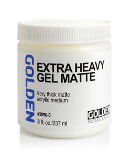 Golden Artist Colors Acrylic Gel: 8oz Extra Heavy Gel Matte