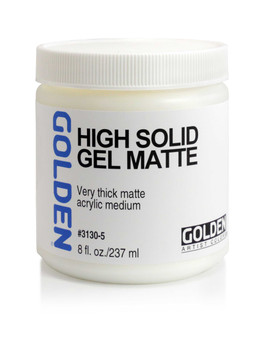 Golden Artist Colors Acrylic Gel: 8oz High Solid Gel Matte