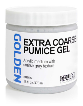 Golden Artist Colors Acrylic Gel: 16oz Extra Coarse Pumice Gl
