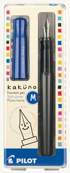 Pilot Kakuno Fountain Pen Medium Black/Blue