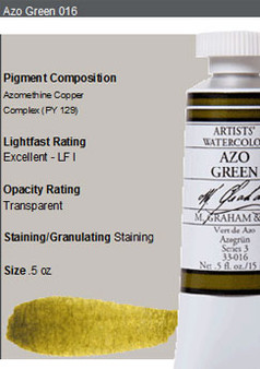 M. Graham Watercolor Series 3: 15ml Azo Green