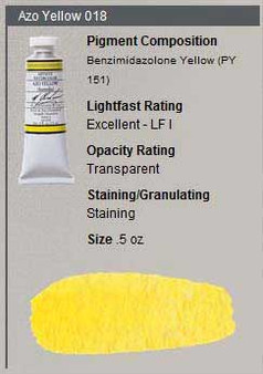 M. Graham Watercolor Series 2: 15ml Azo Yellow