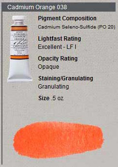 M. Graham Watercolor Series 4: 15ml Cadmium Orange
