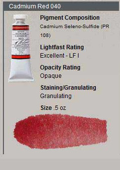 M. Graham Watercolor Series 4: 15ml Cadmium Red