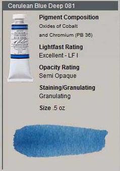 M. Graham Watercolor Series 3: 15ml Cerulean Blue Deep