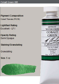 M. Graham Watercolor Series 4: 15ml Cobalt Green