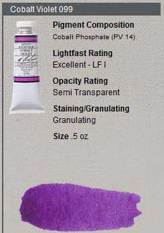 M. Graham Watercolor Series 4: 15ml Cobalt Violet