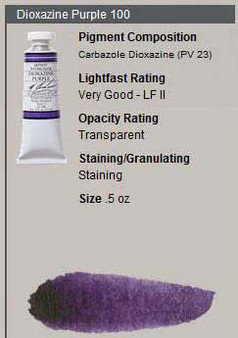 M. Graham Watercolor Series 3: 15ml Dioxazine Purple