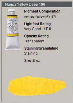 M. Graham Watercolor Series 2: 15ml Hansa Yellow Deep