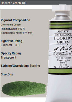 M. Graham Watercolor Series 2: 15ml Hookers Green