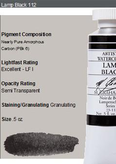 M. Graham Watercolor Series 1: 15ml Lamp Black