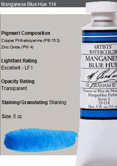 M. Graham Watercolor Series 3: 15ml Manganese Blue Hue