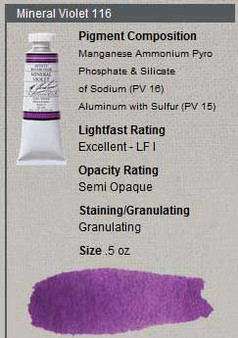 M. Graham Watercolor Series 3: 15ml Mineral Violet
