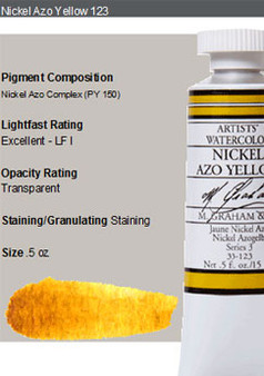 M. Graham Watercolor Series 3: 15ml Nickel Azo Yellow