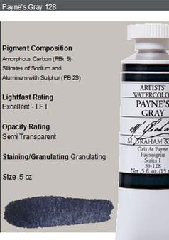M. Graham Watercolor Series 1: 15ml Paynes Grey