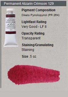M. Graham Watercolor Series 4: 15ml Permanent Alizarin Crimson