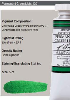 M. Graham Watercolor Series 2: 15ml Permanent Green Light