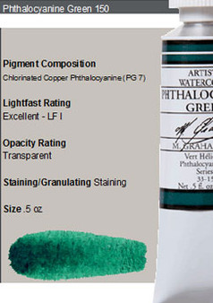 M. Graham Watercolor Series 2: 15ml Phthalo Green