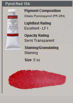 M. Graham Watercolor Series 3: 15ml Pyrrole Red