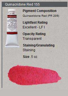 M. Graham Watercolor Series 3: 15ml Quinacridone Red