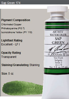 M. Graham Watercolor Series 2: 15ml Sap Green