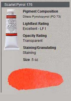 M. Graham Watercolor Series 3: 15ml Pyrrole Scarlet