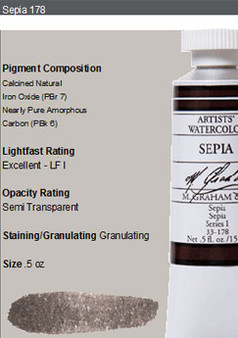 M. Graham Watercolor Series 1: 15ml Sepia