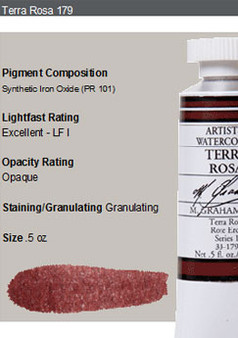 M. Graham Watercolor Series 1: 15ml Terra Rosa