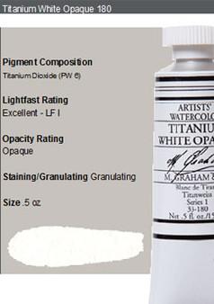 M. Graham Watercolor Series 1: 15ml Titanium White Opaque