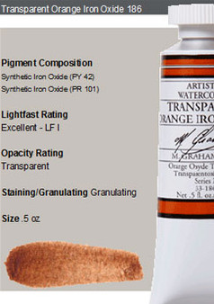 M. Graham Watercolor Series 2: 15ml Trans Orange Iron Oxide