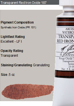 M. Graham Watercolor Series 2: 15ml Trans Red Iron Oxide