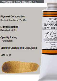 M. Graham Watercolor Series 2: 15ml Trans Yellow Iron Oxide