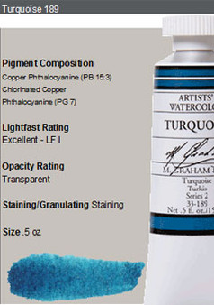 M. Graham Watercolor Series 2: 15ml Turquoise