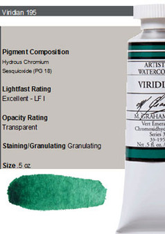 M. Graham Watercolor Series 3: 15ml Viridian