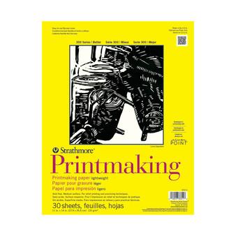 Strathmore 300 Series Lightweight Printmaking Pad 11x14