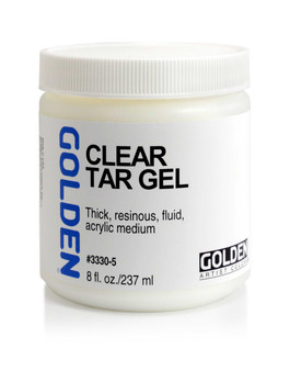 Golden Artist Colors Acrylic Gel: 8oz Clear Tar Gel