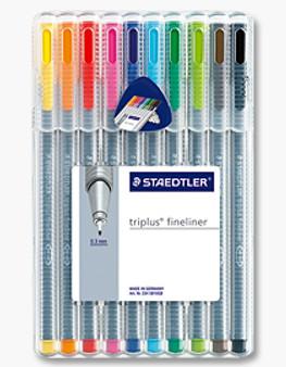 Staedtler Triplus Fineliner 10pk