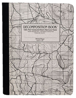 Michael Roger Press Decomposition Grid Notebook Topography Map